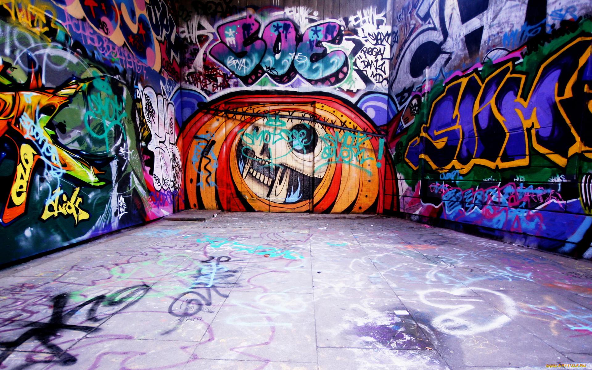 Картинки с граффити на стене